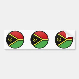 Vanuatu quality Flag Circle Car Bumper Sticker