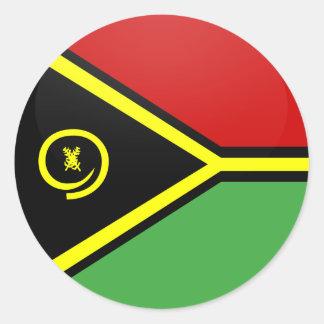 Vanuatu quality Flag Circle Sticker