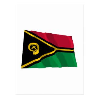 Vanuatu Waving Flag Postcard