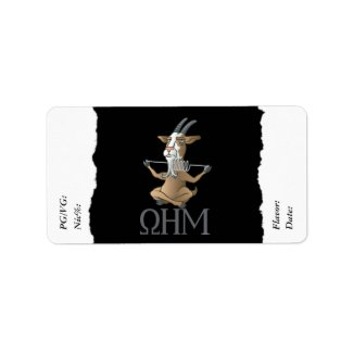 Vape | DIY E-Juice Label Ohm Goat by VapeGoat