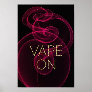 Vape en humo rosado oscuro póster