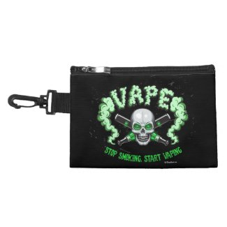 Vape | Green Skull Vape Stuff Bag by The VapeGoat