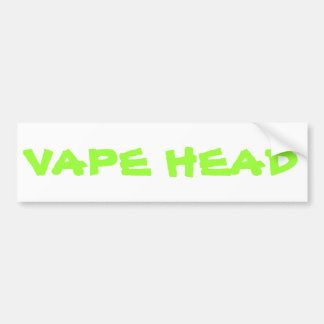 VAPE HEAD BUMPER STICKER