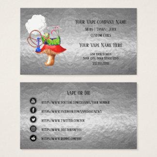 VAPE    Hookah Silver Business Social Media Business Card