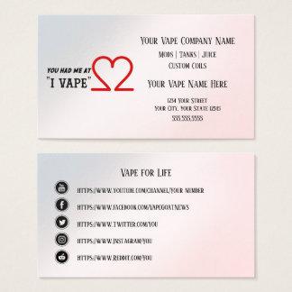 VAPE    I VAPE Business Social Media Business Card