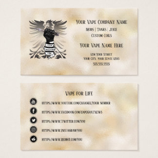 VAPE    I Vape I am Business Social Media Business Card