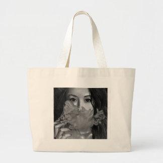 Vape Lady Smoking Hot Design Large Tote Bag