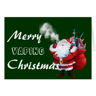 VAPE | Merry Vaping Santa Christmas Card