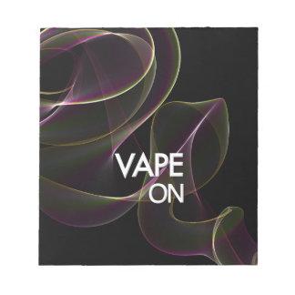 Vape On Lime Smoke Notepad
