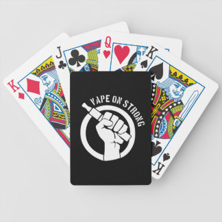 Vape On Strong Bicycle Poker Cards