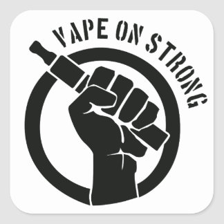 Vape On Strong Square Sticker