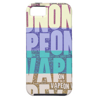 Vape On Typography Tan Turquoise iPhone SE/5/5s Case