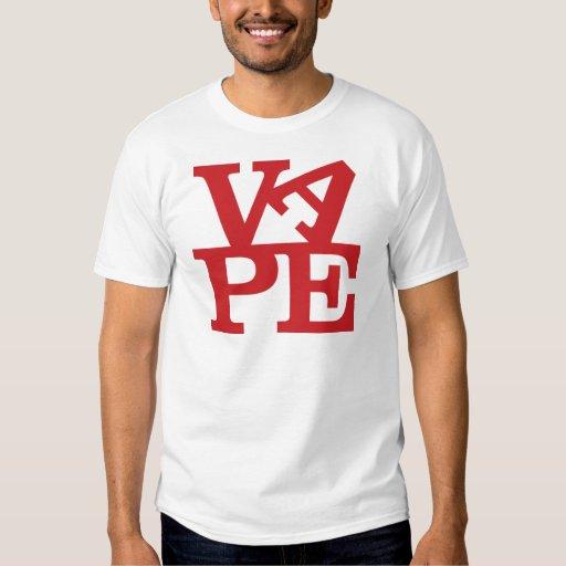 Vape pone letras a la camiseta remeras