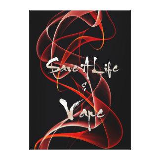Vape Quotes Premium Wrapped Canvas Canvas Print