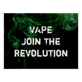 Vape Revolution Green Smoke Premium Poster Print