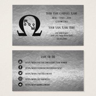 VAPE    Sub Ohm  Silver Business Social Media Business Card
