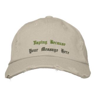 Vape | the VapeGoat  Custom Distressed Baseball Ca Embroidered Baseball Hat