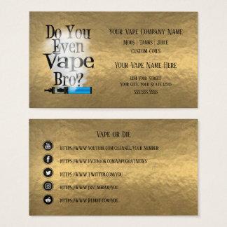 VAPE    Vape Bro Bronze  Business Social Media Business Card