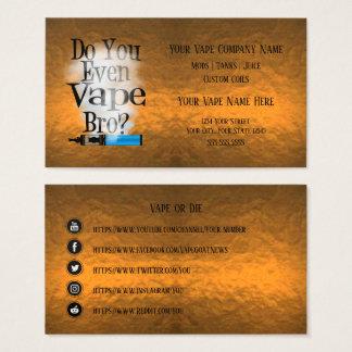 VAPE    Vape Bro Copper Business Social Media Business Card