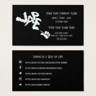 VAPE    VAPE Cloud Business with Social Media Business Card