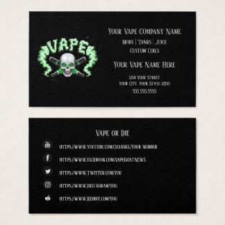 VAPE    Vape Skull Business with Social Media Business Card