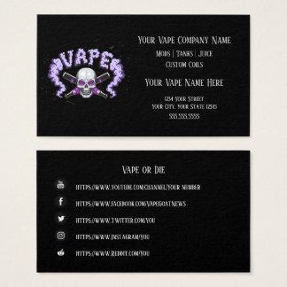 VAPE    Vape Skull Purple  Business Social Media Business Card