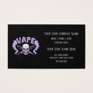 VAPE | Vape Skull Purple Business Social Media