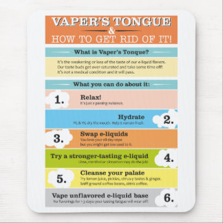 Vaper's Tongue Infographic Mouse Pad