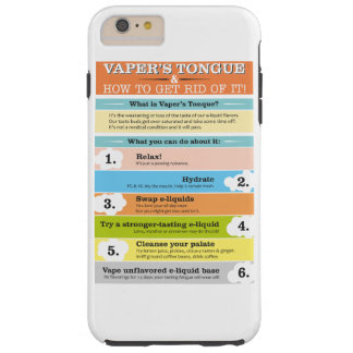 Vaper's Tongue Infographic Tough iPhone 6 Plus Case