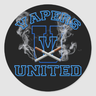 VAPERS UNITED CLASSIC ROUND STICKER