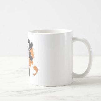 Vapid Orange Inkblot Design Mug