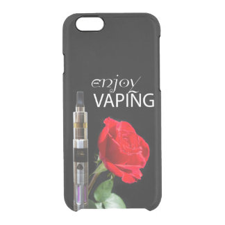 Vaping and rose flower clear iPhone 6/6S case