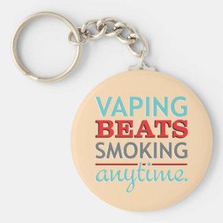 Vaping Beats Smoking Anytime Basic Round Button Keychain