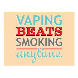 Vaping Beats Smoking Anytime Postcard