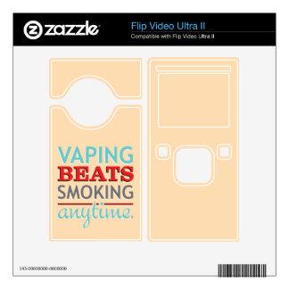 Vaping Beats Smoking Anytime Skins For Flip Ultra II