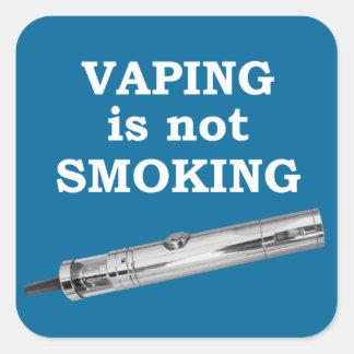 Vaping is not smoking square sticker