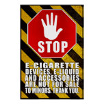 Vaping No Sale To Minors Poster