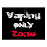Vaping Only Zone Customisable High Quality Poster at Zazzle