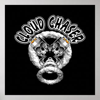 Vaping Skulls: Cloud Chaser Poster