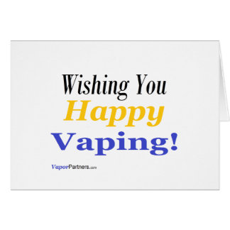Vaping Wishes Cards