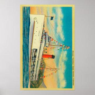 "Vapor ""Catalina"" en la isla de Santa Catalina Póster"