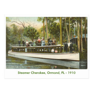 Vapor cherokee, Ormond, FL - 1910 Postales