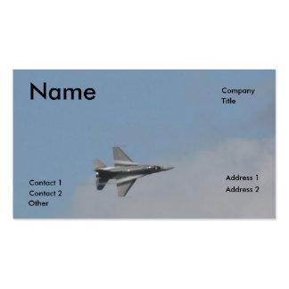 Vapor de agua F-16 Tarjetas De Visita