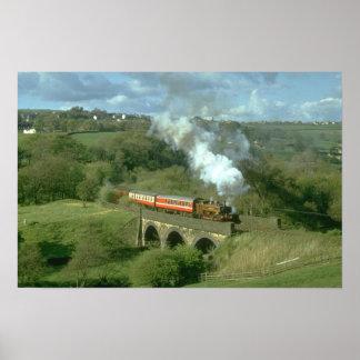 Vapor de Yorkshire en el viaducto de Mytholmes, KW Impresiones