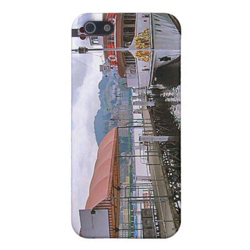 Vapor del lago vintage en el lago Alfalfa iPhone 5 Carcasa