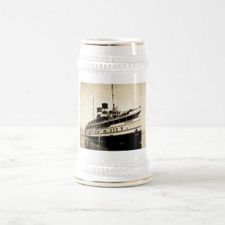 Vapor del pasajero del Cayuga - líneas de buque de Jarra De Cerveza