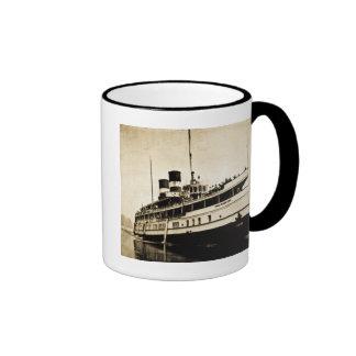 Vapor del pasajero del Cayuga - líneas de buque de Taza De Dos Colores