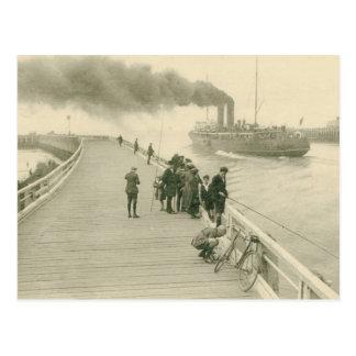 Vapor el buque correo de Dover a Ostende Postales
