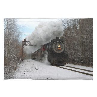 Vapor en el americano MoJo Placemat del invierno Mantel Individual