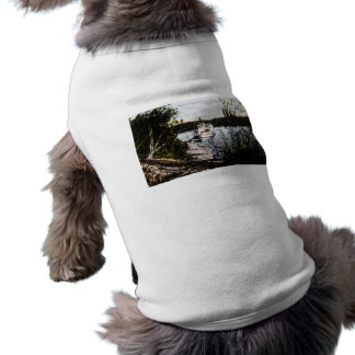 Vapor en el río Saskatchewan, Edmonton, Alta Playera Sin Mangas Para Perro